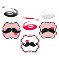 6 Guirlandes spirales Moustache