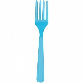 10 Fourchettes Bleu Caraïbes