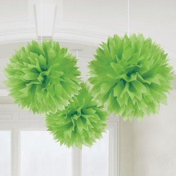 3 Boules Papier fleurs Vert