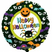 Ballon H�lium Happy Halloween Yeux