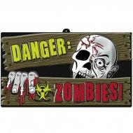 Pancarte Danger Zombie Relief