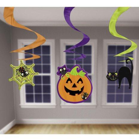3 Guirlandes Spirales Halloween