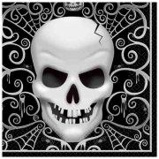 16 Serviettes T�te de Mort Baroque