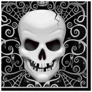 16 Serviettes Tête de Mort Baroque