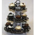 Présentoir à Cupcakes Tête de Mort Baroque