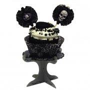 4 Supports à Cupcakes Tête de Mort Baroque