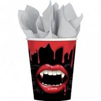 Contient : 1 x 8 Gobelets Bouche de Vampire
