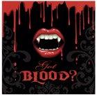16 Serviettes Bouche de Vampire