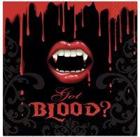 Contient : 1 x 16 Serviettes Bouche de Vampire