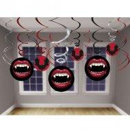 12 Décorations Bouche de Vampire Tourbillons