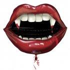 Ballon Géant Bouche de Vampire