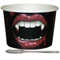 Contient : 1 x 12 Pots à Glace Bouche de Vampire