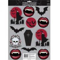 Contient : 1 x 12 Décors de Fenêtre Bouche de Vampire
