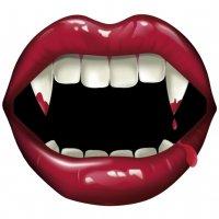 Contient : 1 x Décoration Bouche de Vampire