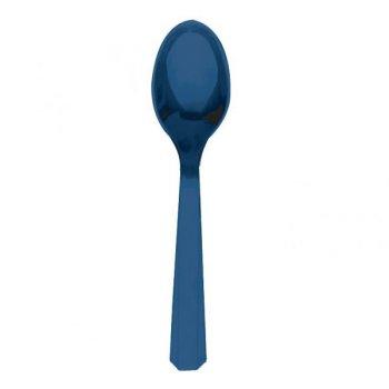 10 Cuillères Bleu Foncé