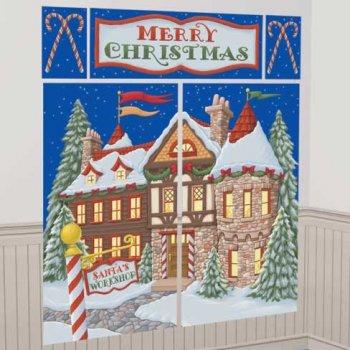 Scène décoratif Maison de Noël