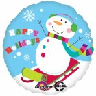 Ballon � l'H�lium Bonhomme de neige