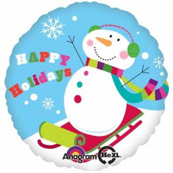 Ballon à l Hélium Bonhomme de neige