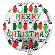 Ballon Gonflé à l'Hélium Merry Christmas