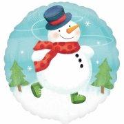 Ballon � l'H�lium Gros Bonhomme de neige