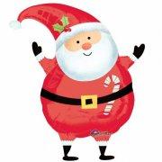 Ballon à l'Hélium Silhouette Père Noël