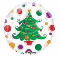 Ballon Gonflé à l'Hélium Sapin de Noël