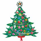 Ballon Géant Sapin de Noël en relief