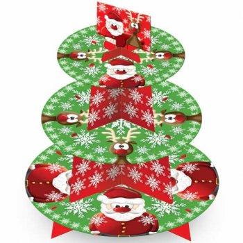 Présentoir à Cupcakes Père Noël