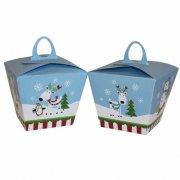 6 Petites Bo�tes Cadeaux Joyeux Bonhomme de Neige