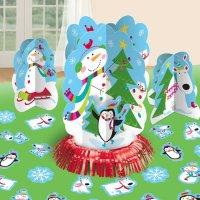 Contient : 1 x Kit Décorations de table Joyeux Bonhomme de Neige