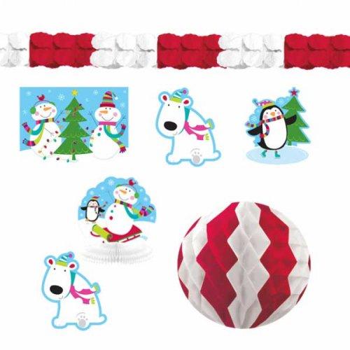 Kit 10 Décorations de Fête Joyeux Bonhomme de Neige