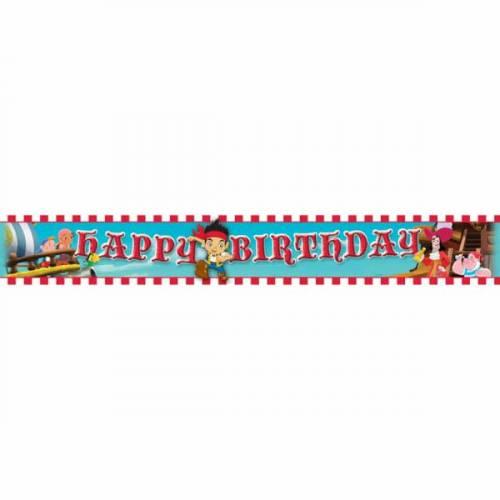 Bannière Happy Birthday Jake le Pirate