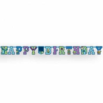 Guirlande lettres  Happy Birthday Monstres Academy Personnalisée