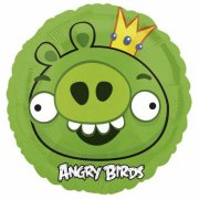 Ballon � l'H�lium Angry Birds Roi cochon vert