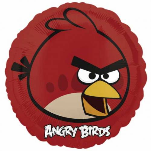 Ballon à Plat Angry Birds Rouge