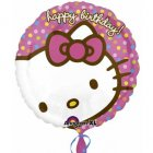 Ballon Hélium Happy Birthday Hello Kitty