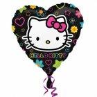 Ballon à l'Hélium Hello Kitty coeur pop