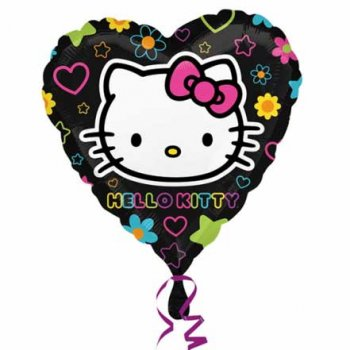 Ballon à l Hélium Hello Kitty coeur pop