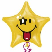 Ballon � l'H�lium Etoile Smiley