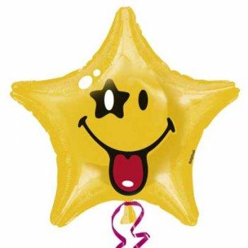 Ballon à l Hélium Etoile Smiley