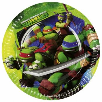 8 Assiettes Tortue Ninja