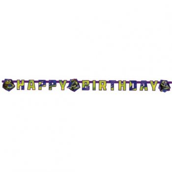 Guirlande lettres  Happy Birthday Tortue Ninja