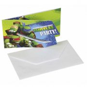 6 Invitations Tortue Ninja