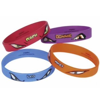 4 Bracelets Tortue Ninja