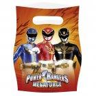 6 Pochettes cadeaux Power Rangers