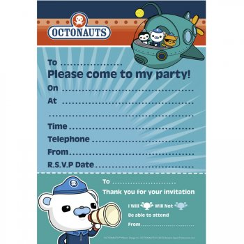 20 Invitations Octonauts