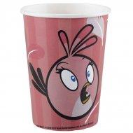 8 Gobelets Pink Bird
