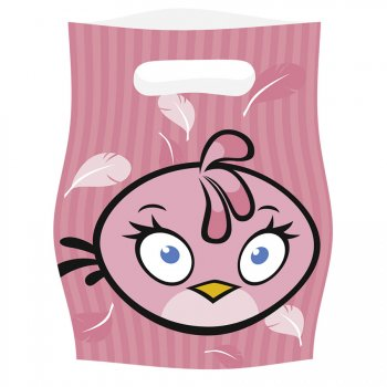 6 Pochettes cadeaux Pink Bird