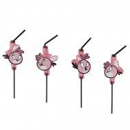 8 Pailles Pink Bird