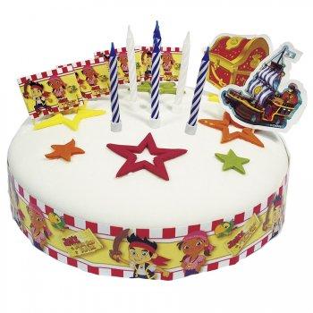 Set Décorations de gâteau Jake le Pirate